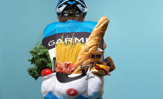 La alimentación antes de una pruebaciclista.